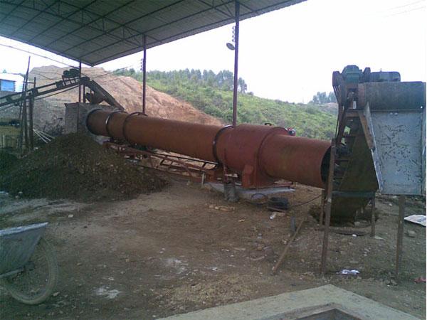 江西粉煤灰烘干设备生产现场