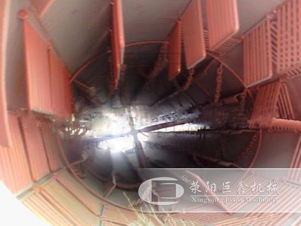 电石渣烘干机筒体内部结构