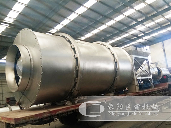 时产30吨石英砂不锈钢烘干机发货现场