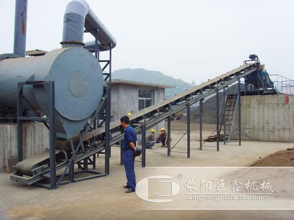 福建漳州时产100吨砂子烘干机用户现场