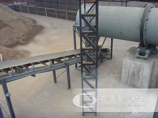 福建砂子烘干机生产运行中
